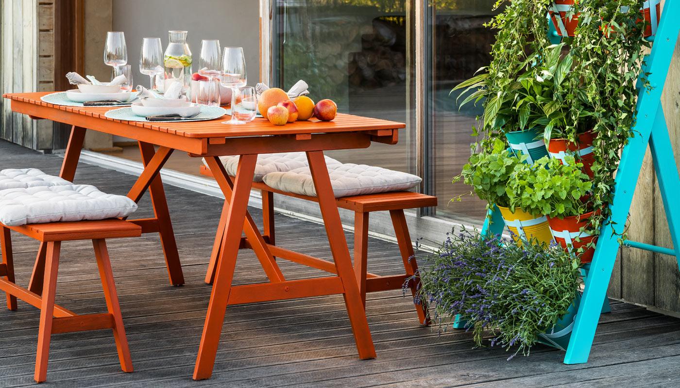Jak si proměnit venkovní nábytek