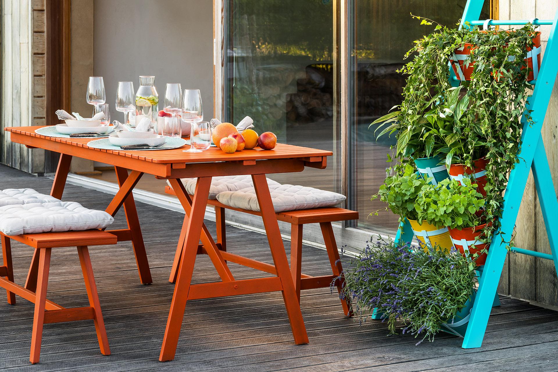Výroba žebříku na květiny pro barevnější život